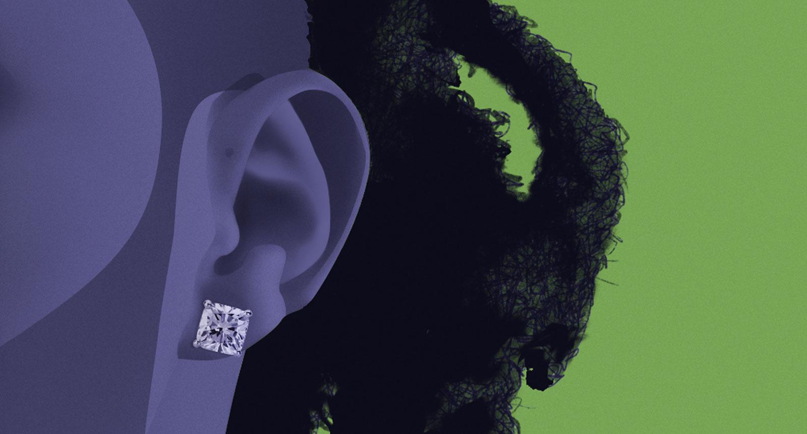 The Weeknd Zoom on Ear | crystalpulse.co.uk