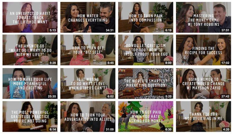 Marie Forleo YouTube Branding