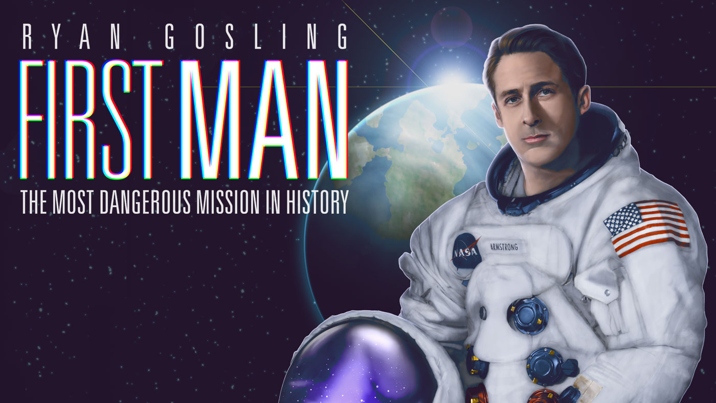 Digital Illustration | Ryan Gosling - First Man Film