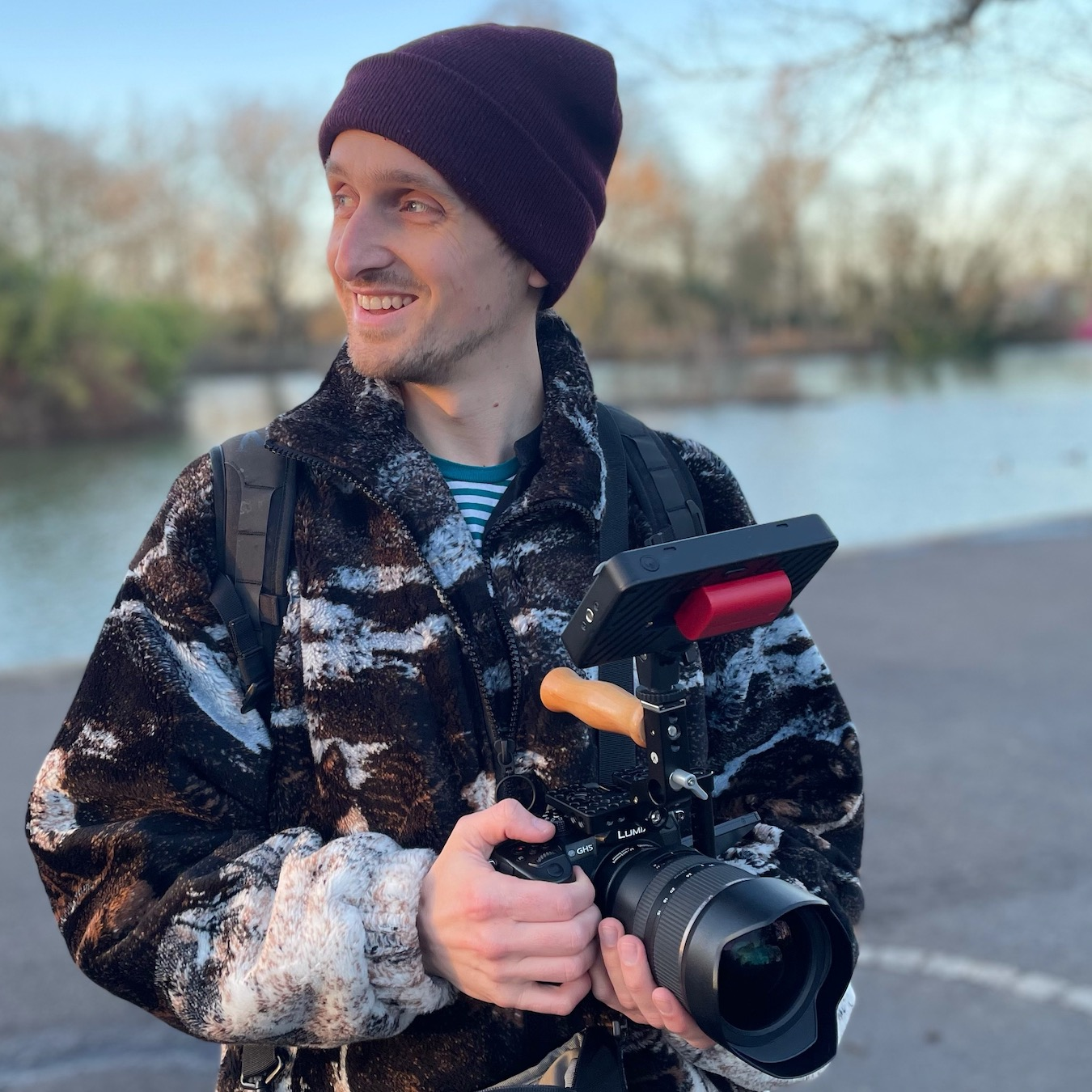 Chris Hart with GH5 Rig